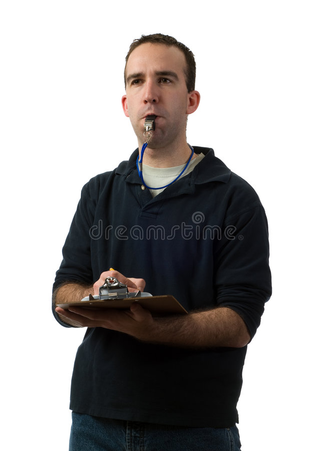 Young Coach royalty free stock photo