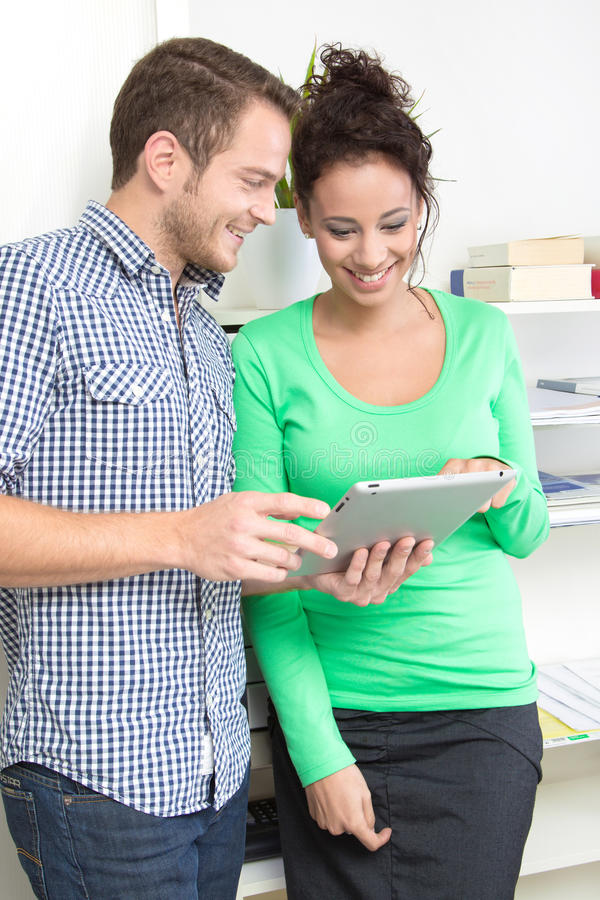 Download Young Colleagues Flirting In The Office Stock Image - Image: 36260447