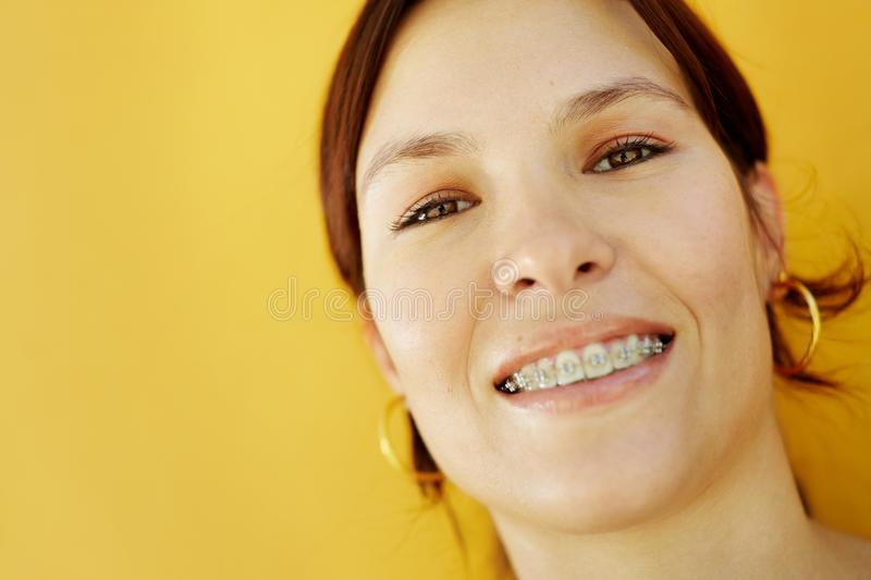 Young college student smiling at camera royalty free stock photos