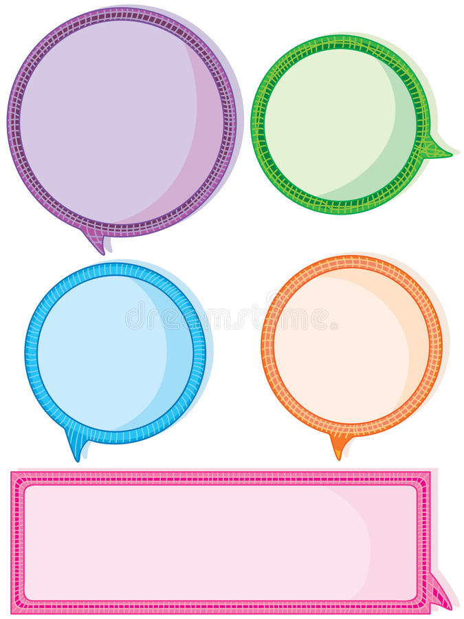 Download Colorful Speech Space_eps Royalty Free Stock Image - Image: 27821826