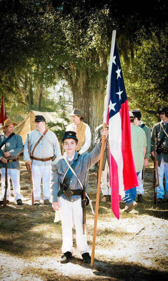 Young Confederate Soldier royalty free stock image