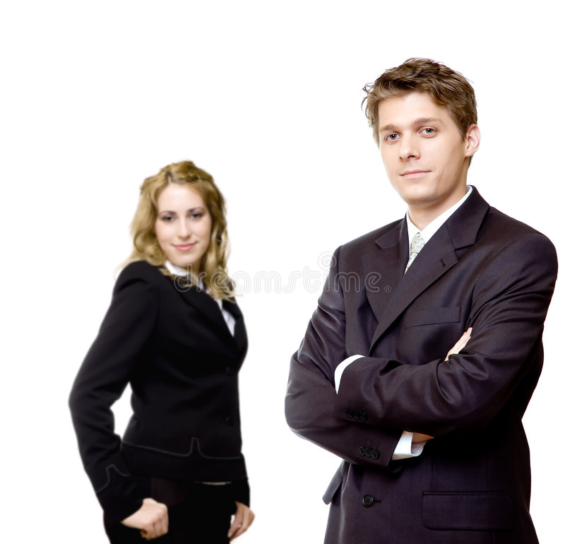 Download Young Confident Business Couple Stock Image - Image of confident, female: 4248619