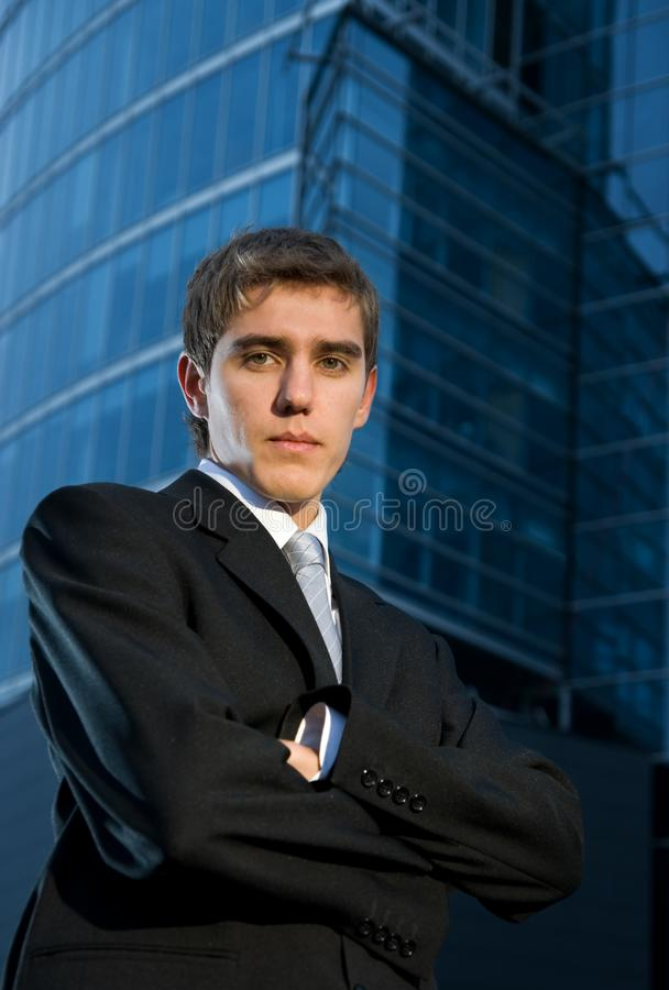 Young confident business man royalty free stock photos