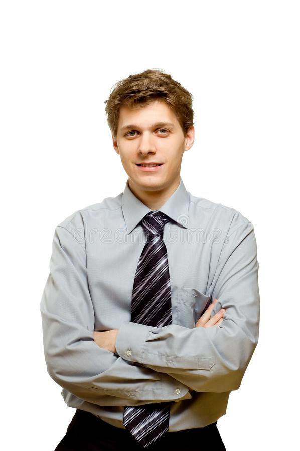 Young confident businessman royalty free stock photo