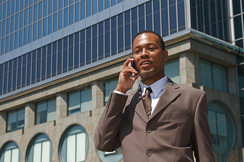 Young Confident Businessman royalty free stock photography