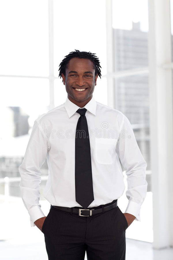 Young Confident Businessman royalty free stock photos