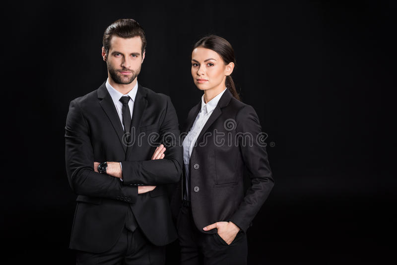 Young confident businesspeople royalty free stock photo