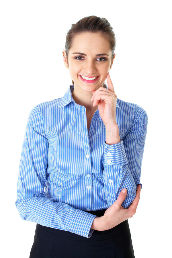 Download Young Confident Businesswoman Portrait, Isolated Stock Image - Image of business, attractive: 18148039