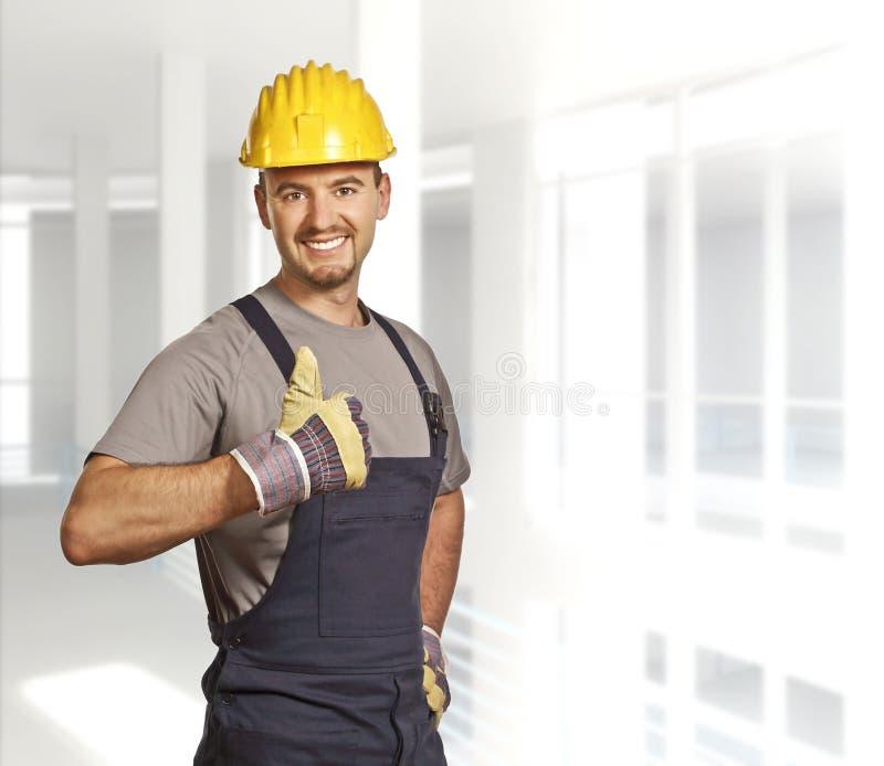 Young confident handyman stock photos