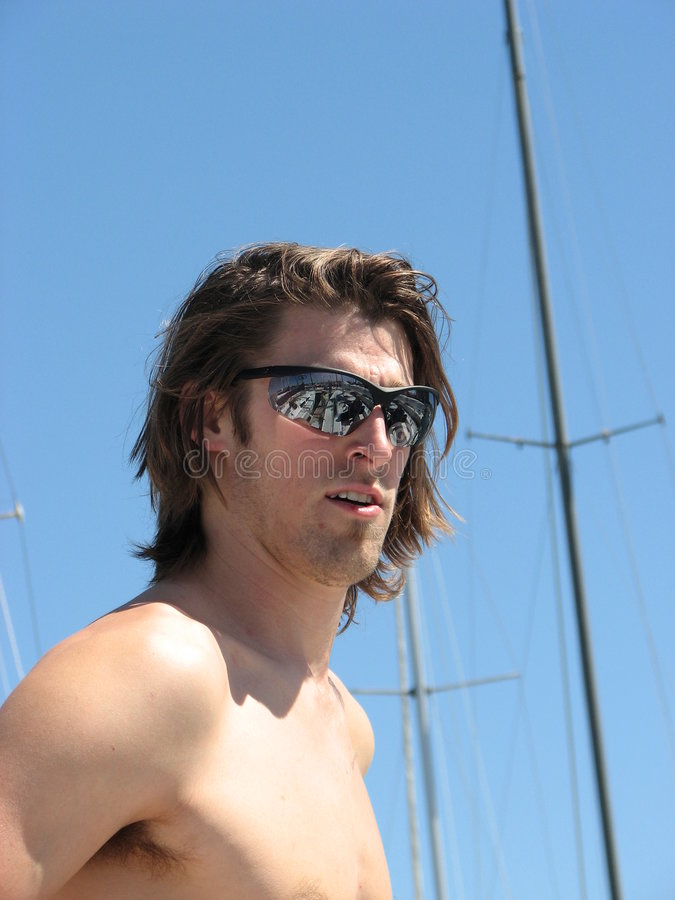 Download Young Confident Man At Boat Ma Stock Image - Image: 4346247