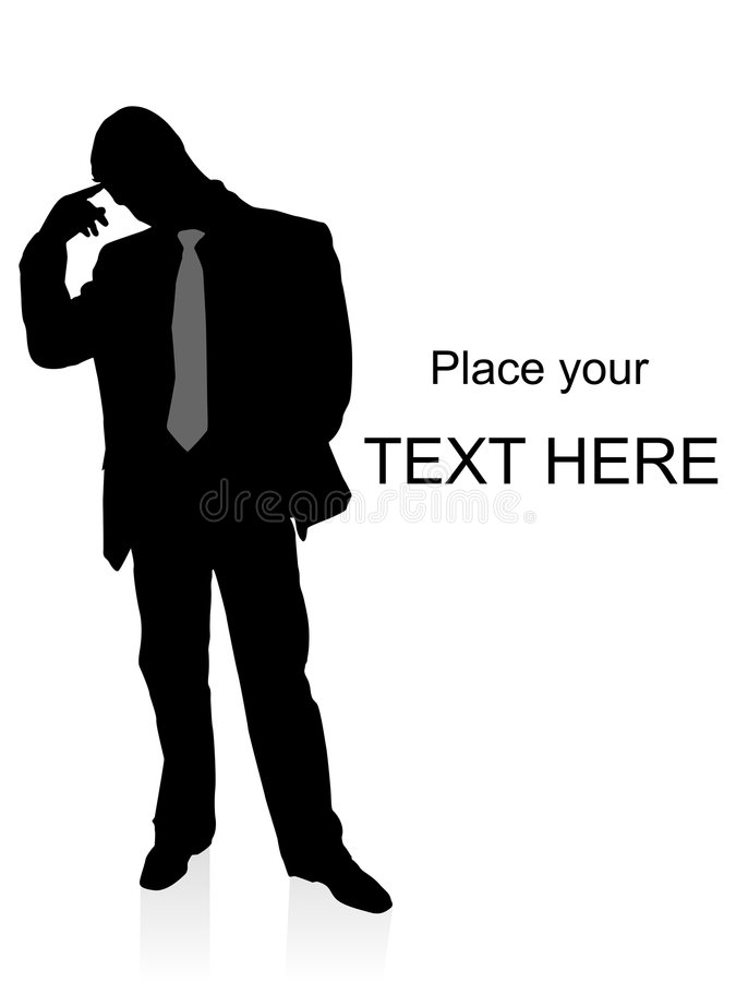 Download Young Confused Businessman Standing Stock Illustration - Image: 7420715