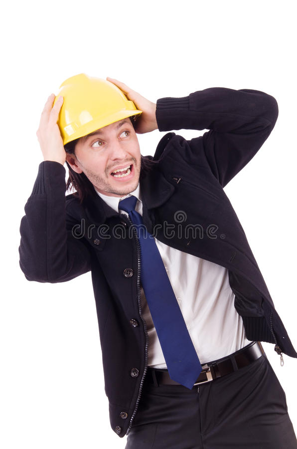 Young construction architect isolated royalty free stock photo