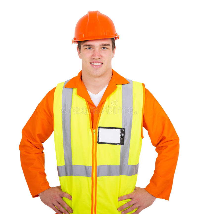 Young contractor portrait stock photo