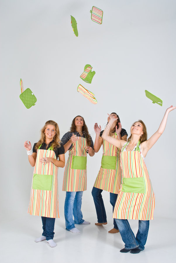 Young Cooks stock photo