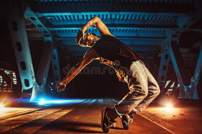 Young man break dancer stock photos
