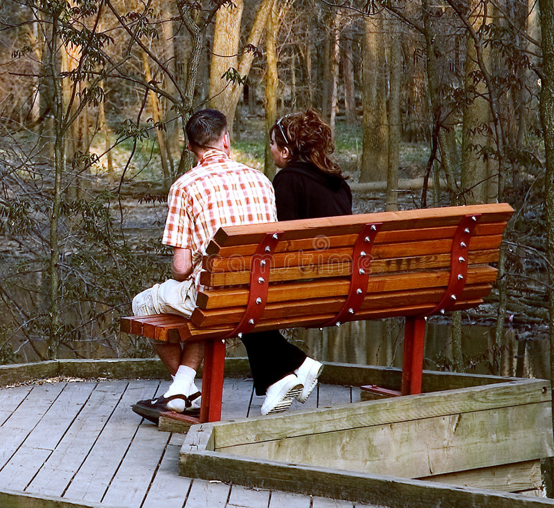 Download Young Couple stock image. Image of lovers, romance, bench - 105901