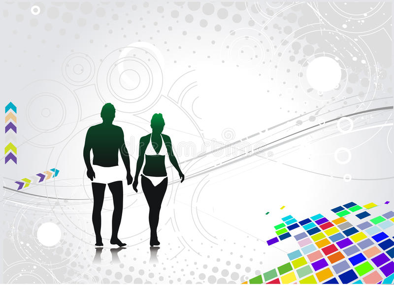 Young couple royalty free illustration
