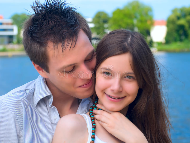 Young couple royalty free stock photos