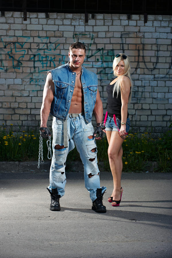 Download Young Couple stock image. Image of male, muscular, cute - 14515983