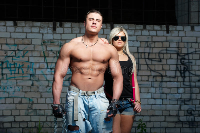 Download Young Couple stock image. Image of caucasian, male, athlete - 14529963