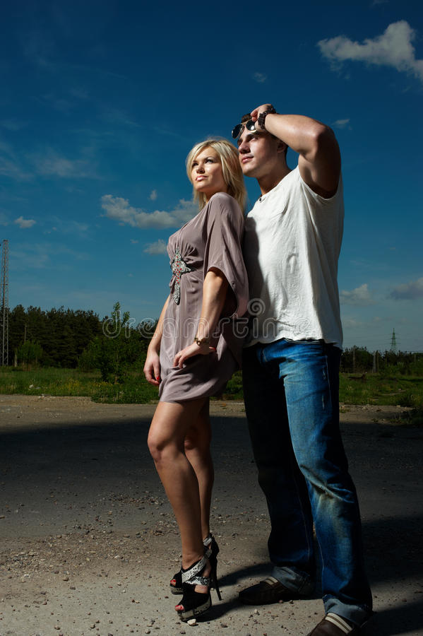 Download Young Couple stock photo. Image of casual, hand, boyfriend - 14530038