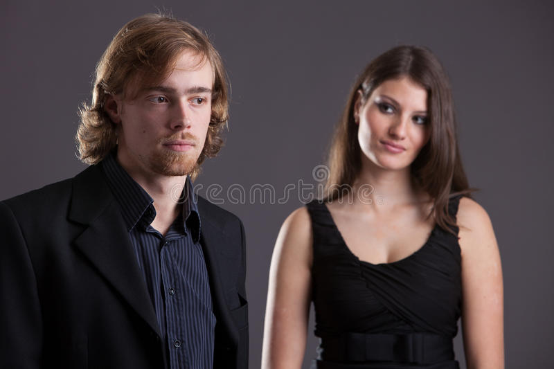 Download Young couple stock photo. Image of flirt, standing, flirting - 18576424