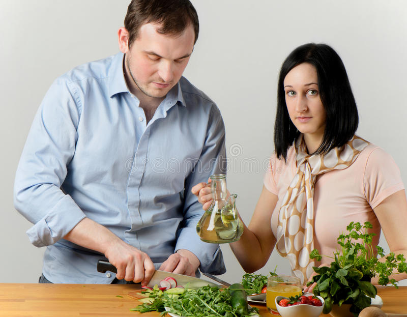 Download Young couple stock photo. Image of food, cruet, caucasian - 24293792