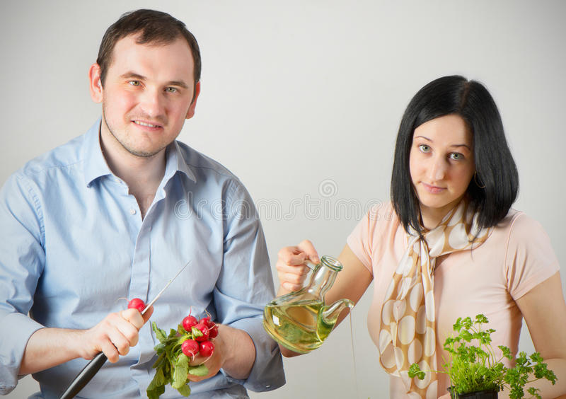 Download Young couple stock image. Image of caucasian, eating - 24294405