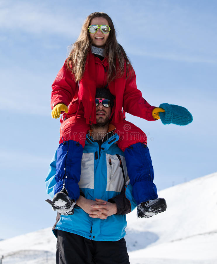 Download Young couple stock image. Image of leisure, alps, funny - 24938907