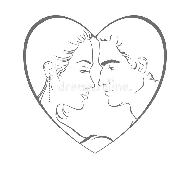 Download Young couple stock vector. Image of young, person, couple - 25195146