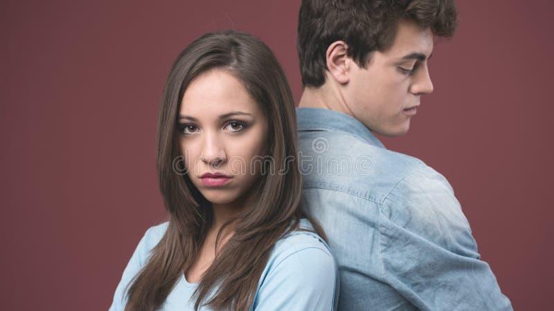Young couple arguing stock photos