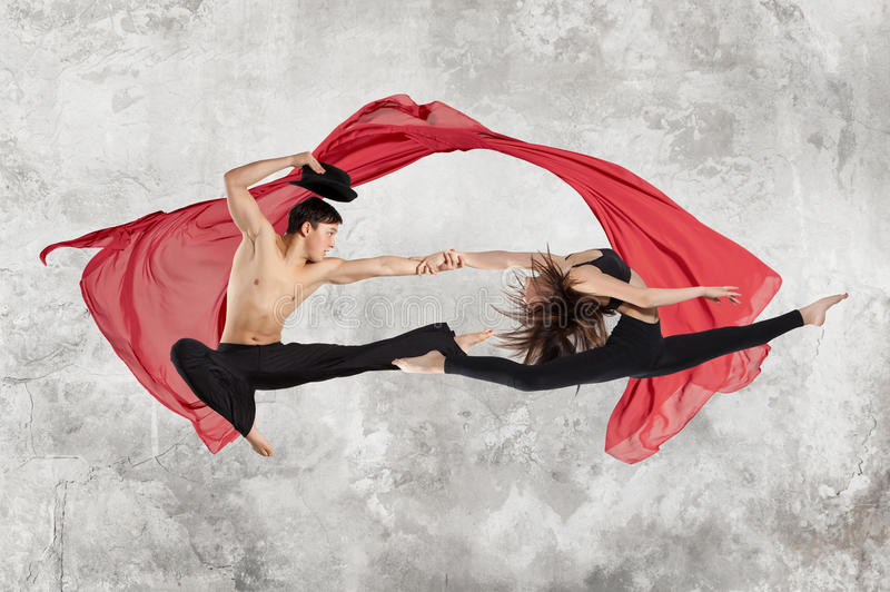 Young couple ballet dancing stock photography