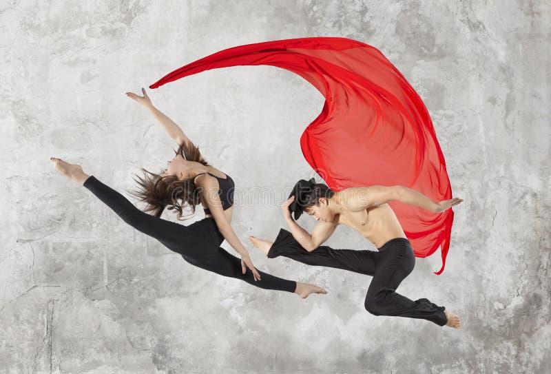 Young couple ballet dancing stock photos