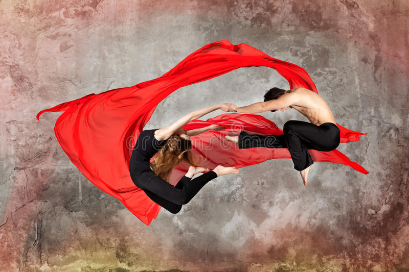 Young couple ballet dancing royalty free stock image