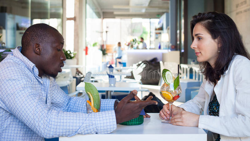 Young Couple At The Bar Royalty Free Stock Photo
