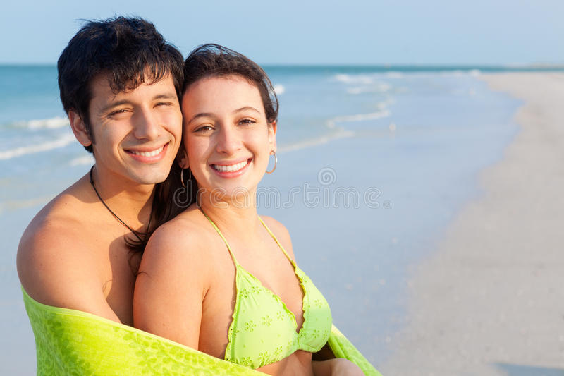 Download Young Couple on Beach stock photo. Image of honeymoon - 31172704