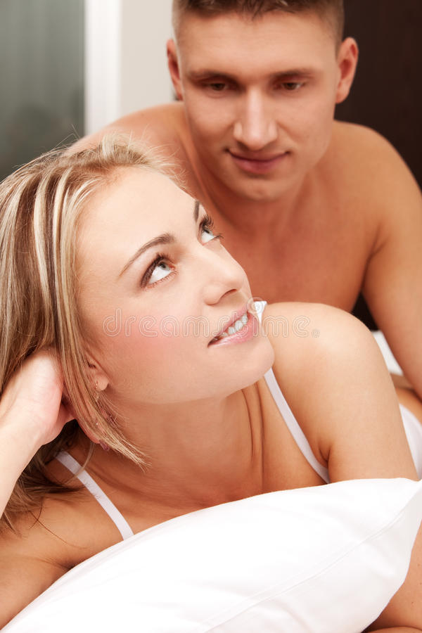 Download Young couple in a bed stock photo. Image of male, female - 11494672