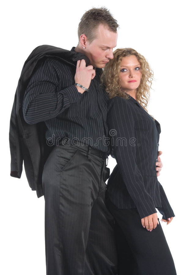Download Young Couple In Black Stock Images - Image: 5017084