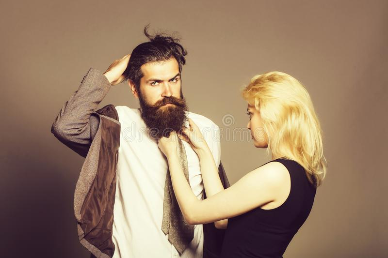 Young stylish couple royalty free stock photography