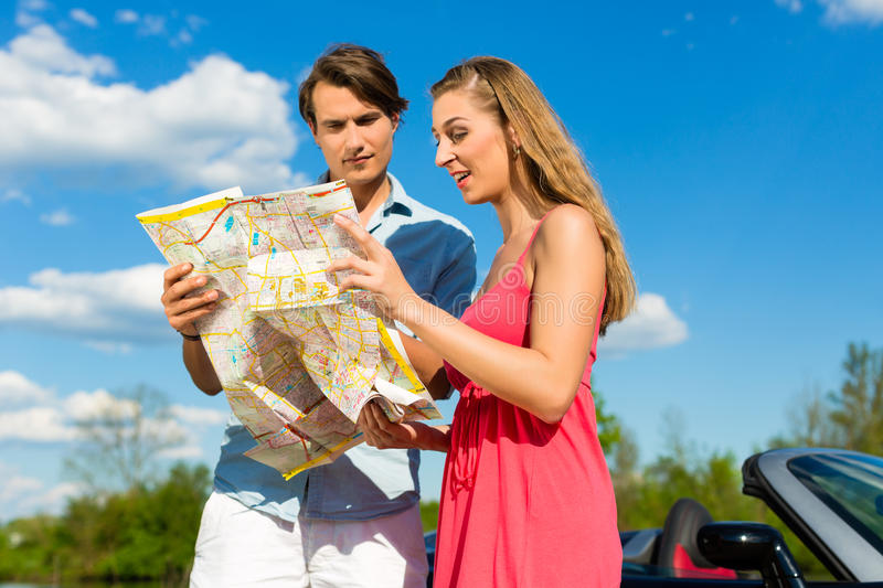 Download Young Couple With Cabriolet In Summer On Day Trip Stock Image - Image: 26006329