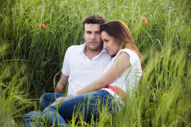 Young couple close each other royalty free stock images