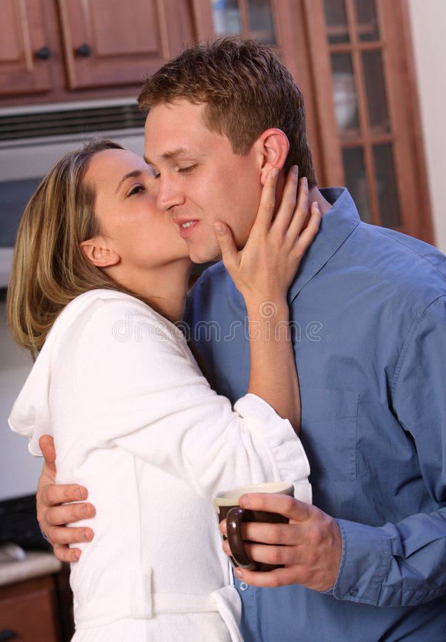 Download Young couple with coffee stock image. Image of female - 4847529
