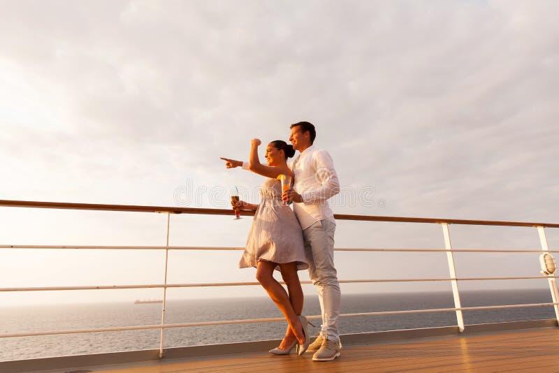Young couple cruise stock photos
