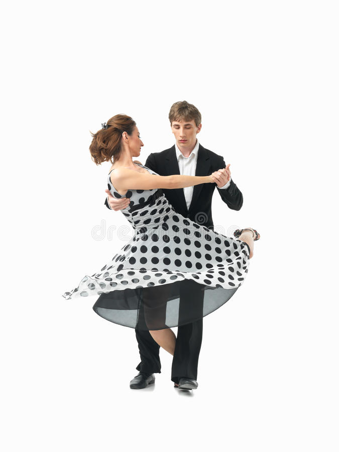 Download Young Couple Dancing The Tango, White Background Stock Photo - Image: 25559028