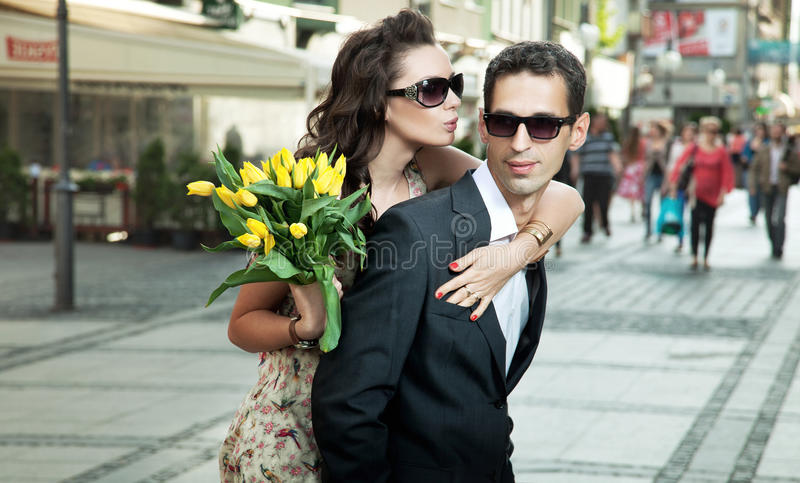 Download Young couple on date stock image. Image of love, happiness - 25441551