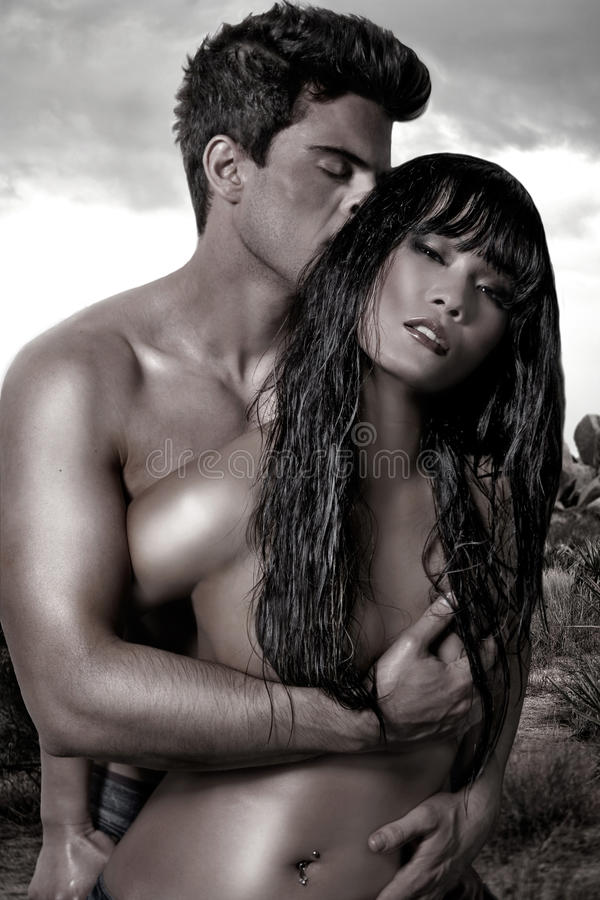 Download Young Couple In The Desert Stock Photos - Image: 14181163