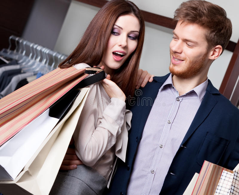 Couple Is In The Shop Royalty Free Stock Photography