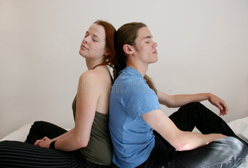 Download Young Couple With Eyes Closed Stock Photo - Image: 3192872