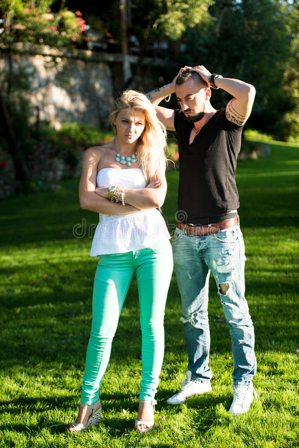 Free Young Couple Fighting Royalty Free Stock Photos - 34310838