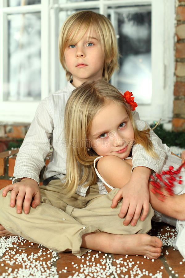 Young couple - first love concept royalty free stock images